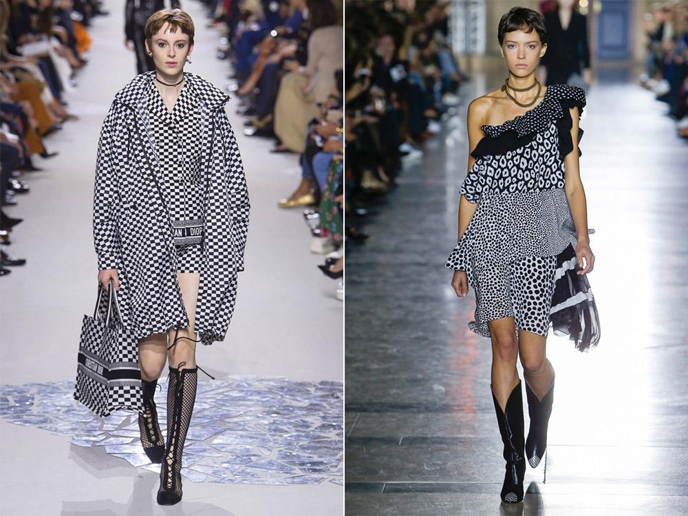Alb-negru la moda primavara vara 2018