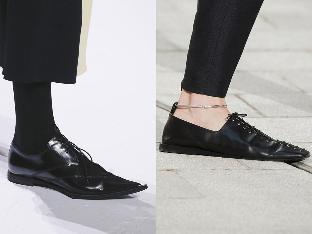 Incaltaminte piele neagra stil masculin 2018