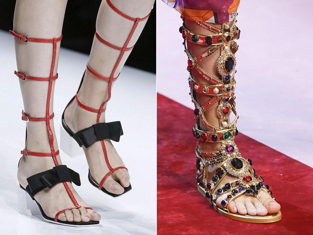 Sandale gladiator primavara vara 2018