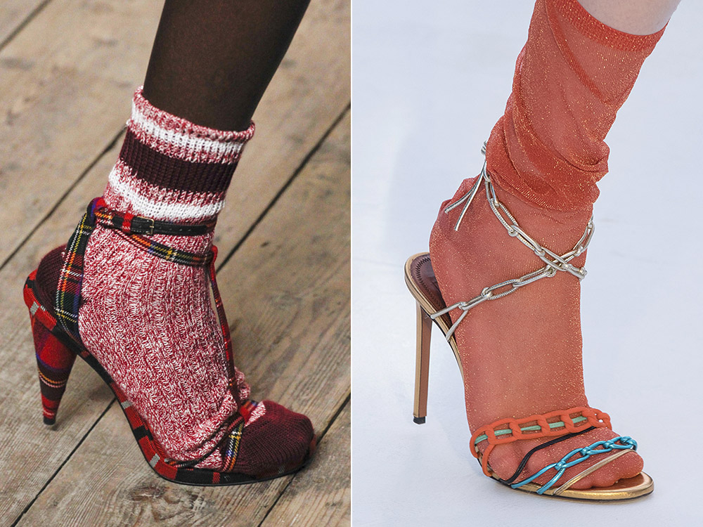 Sandale cu sosete la moda in 2018
