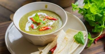 Supa crema de zucchine si menta