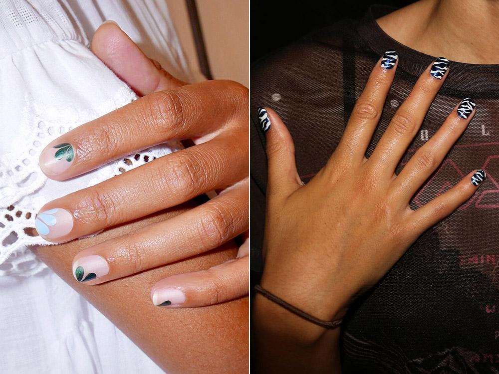 Modele unghii cu desene simple