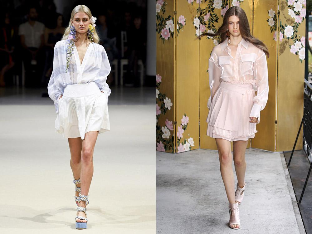 Fuste mini la moda primavara vara 2018