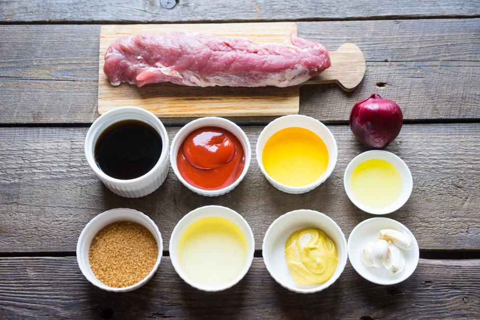 1 Carne de porc glazurata cu salata de porumb