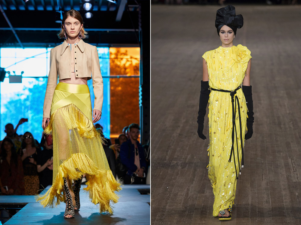 Culoarea galbena la moda in 2018