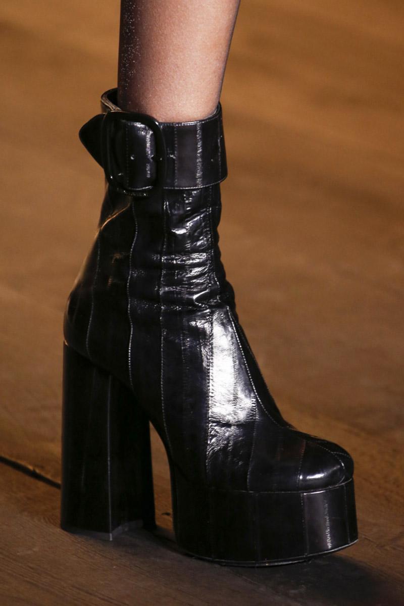 Incaltaminte dama cu platforma piele neagra