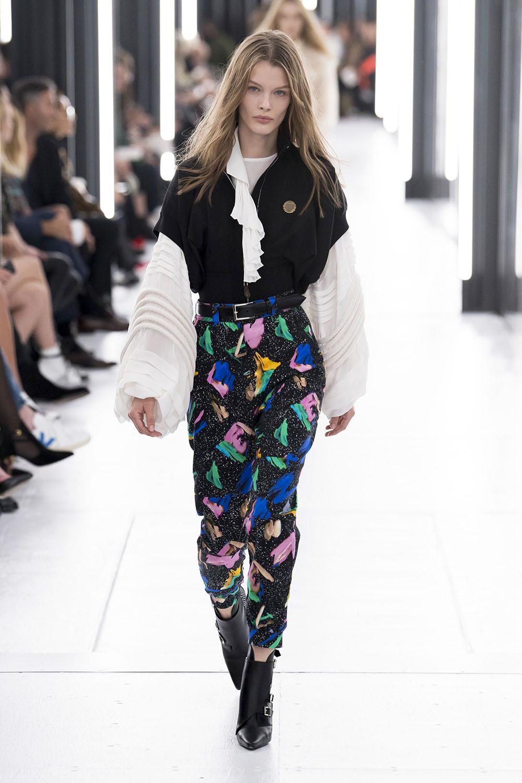 Pantaloni dama 2019 cu imprimeu