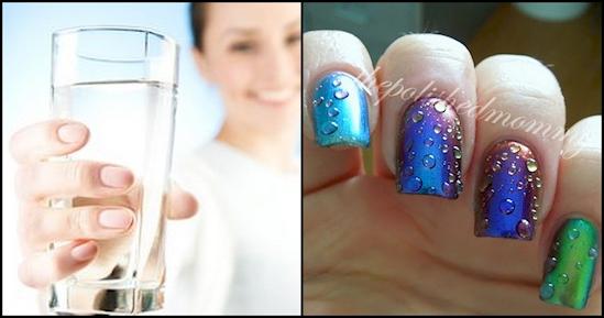 Bea apa pentru unghii sanatoase
