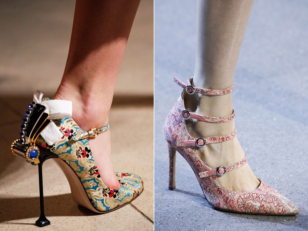 Pantofi eleganti cu imprimeu la moda
