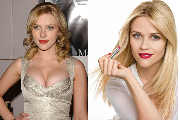 Scarlett Johansson si Reese Witherspoon au forma inima a fetei