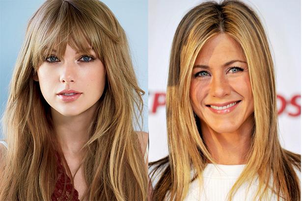 Taylor Swift si Jennifer Aniston au forma diamant a fetei