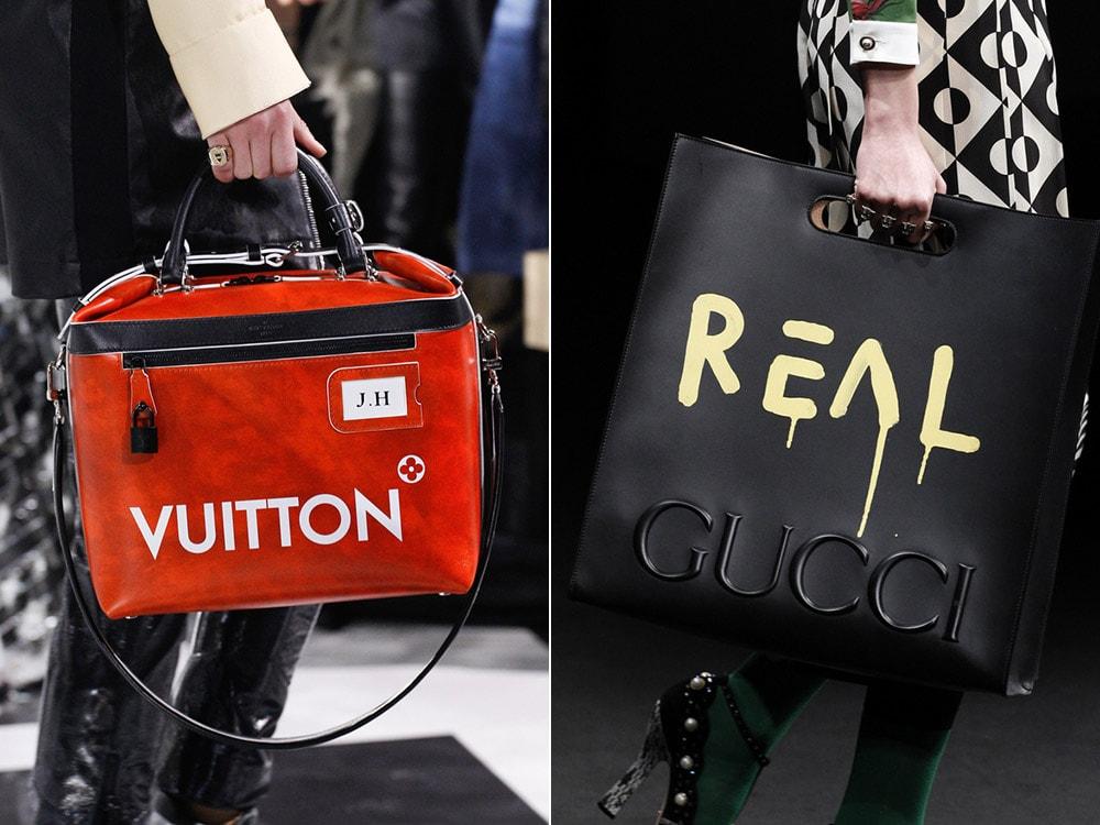 Louis Vuitton si Gucci