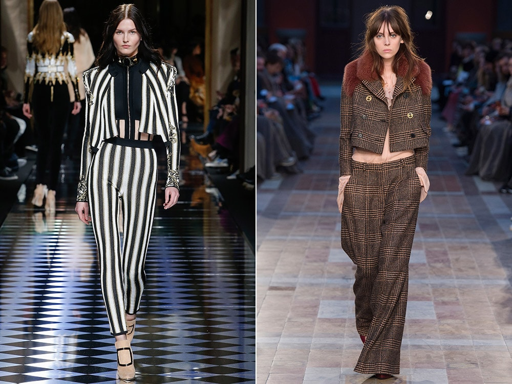 Pantaloni dama 2016 2017 toamna iarna cu imprimeu la moda