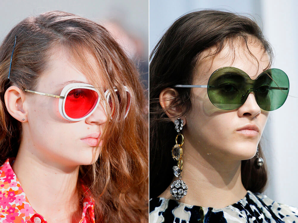 Ochelari de soare de dama 2017 cu lentile colorate