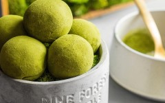 Truffles cu ceai japonez Matcha si lemongrass
