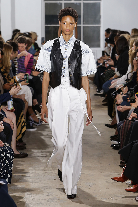 Pantaloni albi primavara vara 2019