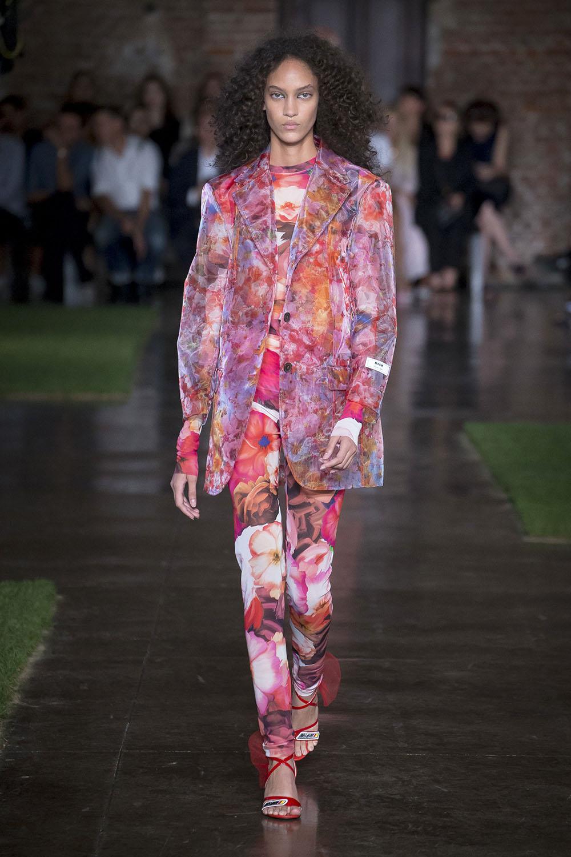 Pantaloni dama cu imprimeu floral vara 2019