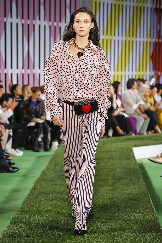 Pantaloni primavara vara 2019 dama cu dungi